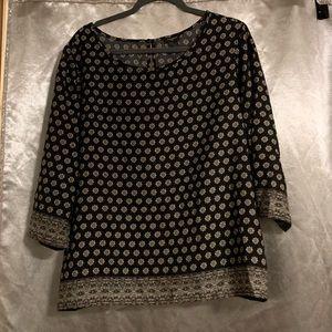 Ann Taylor women's Boho chic long sleeve blouse!✨